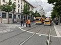 Des pompiers, avenue Berthelot (Lyon), en marge d'une manifestation de gilets jaunes (8).jpg