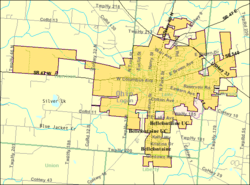 Bellefontaine Ohio Wikipedia - Maps of ohio cities