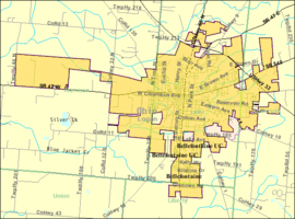 Detailed map of Bellefontaine, Ohio.png
