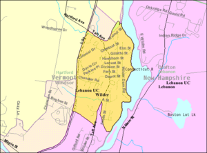 Wilder, Vermont - Image: Detailed map of Wilder, Vermont