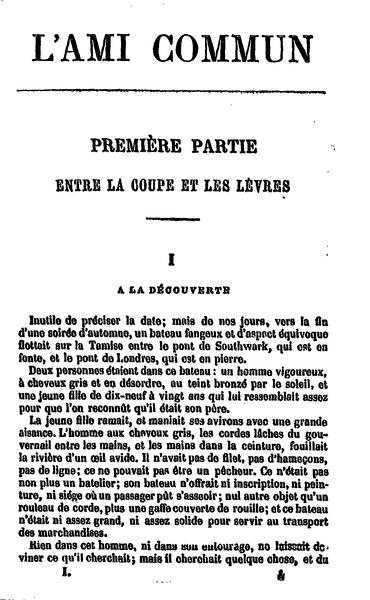 File:Dickens - L'Ami commun, traduction Loreau, 1885, volume 1.djvu