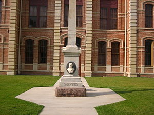 Wharton County, Texas - Memorial to Sheriff Hamilton B. Dickson of Wharton County who served during the 1880s and was killed in an ambush in the line of duty.