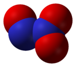 3D model molekuly N2O3
