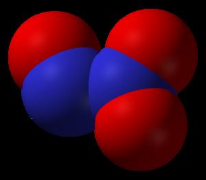 Nitrogen oxide - Image: Dinitrogen trioxide 3D vd W