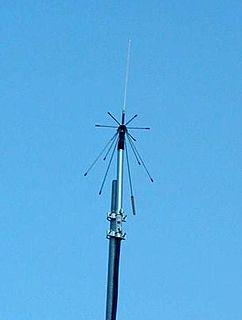 Discone antenna type of radio antenna