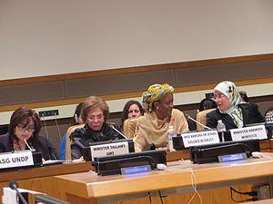 "Mervat Tallawy - Image: Dium ""Arab Women Organisation Side –Event"" (17242462592)"