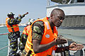 Djiboutian marines conduct a ship boarding scenario during exercise Cutlass Express 2013 at the Port of Djibouti in Djibouti, Djibouti, Nov. 7, 2013 131107-F-NJ596-073.jpg
