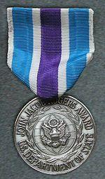 DoS John Jacob Rogers Award Medal Set
