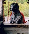 Dodda Basappa Temple Nandi facing Shrine.jpg