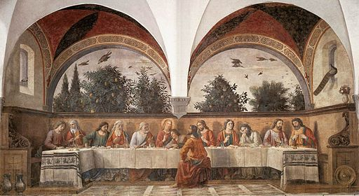 Domenico ghirlandaio, cenacolo di ognissanti 01