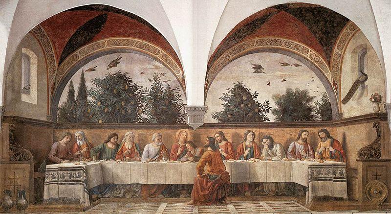 ファイル:Domenico ghirlandaio, cenacolo di ognissanti 01.jpg
