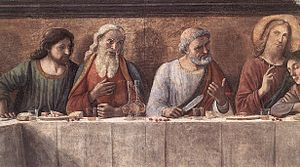 The Last Supper (Ghirlandaio) - Detail of the fresco