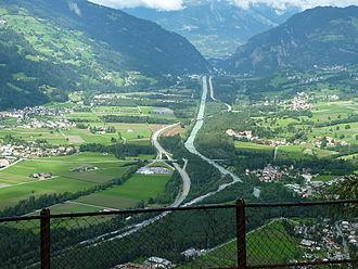 Domleschg (valley) - Domleschg, View from the Carschenna above Sils im Domleschg