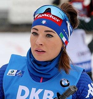Dorothea Wierer Italian biathlete