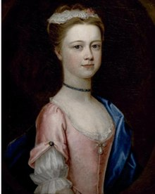 Dorothy Savile, Portrait of Lady Charlotte Boyle, Marchioness of Hartington (1731-1754), circa 1740, Chatsworth House. Attributed to Dorothy Savile.jpg