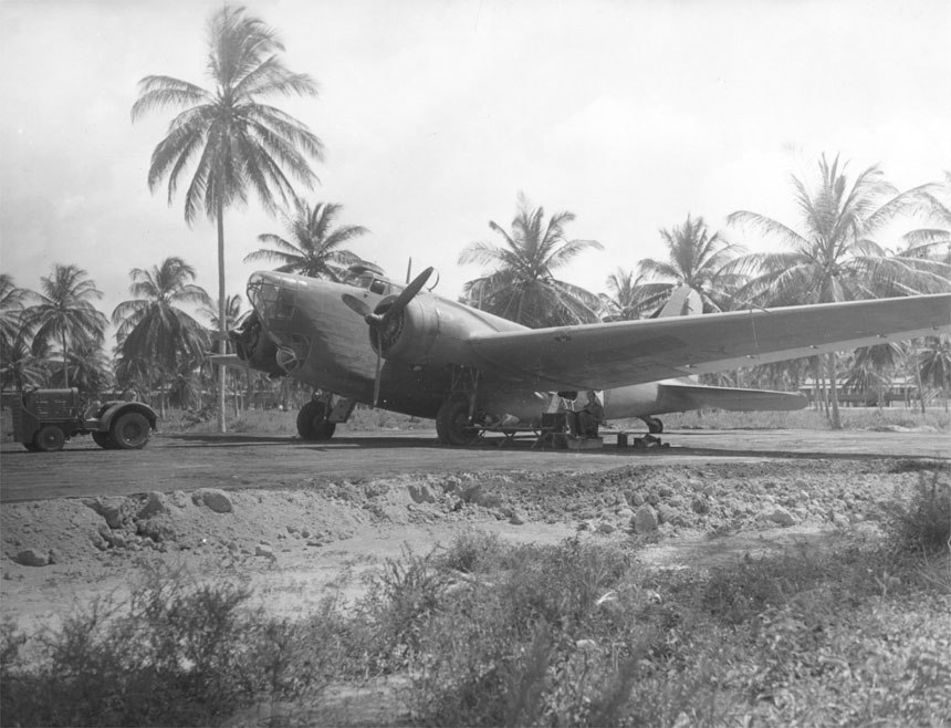 Douglas B-18 sits on airfield in Panama (00910460 139)