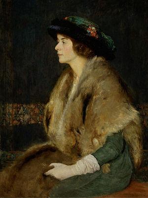 Douglas Volk - Marion, Portrait of the Artist's Daughter (1914), University of Rochester.