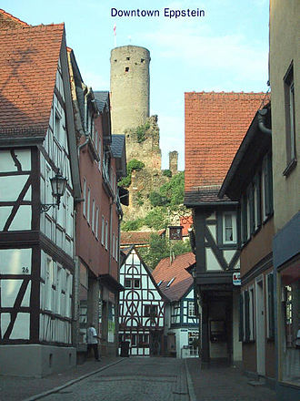 Eppstein - Eppstein and the Wernerplatz, in the centre of the old town.