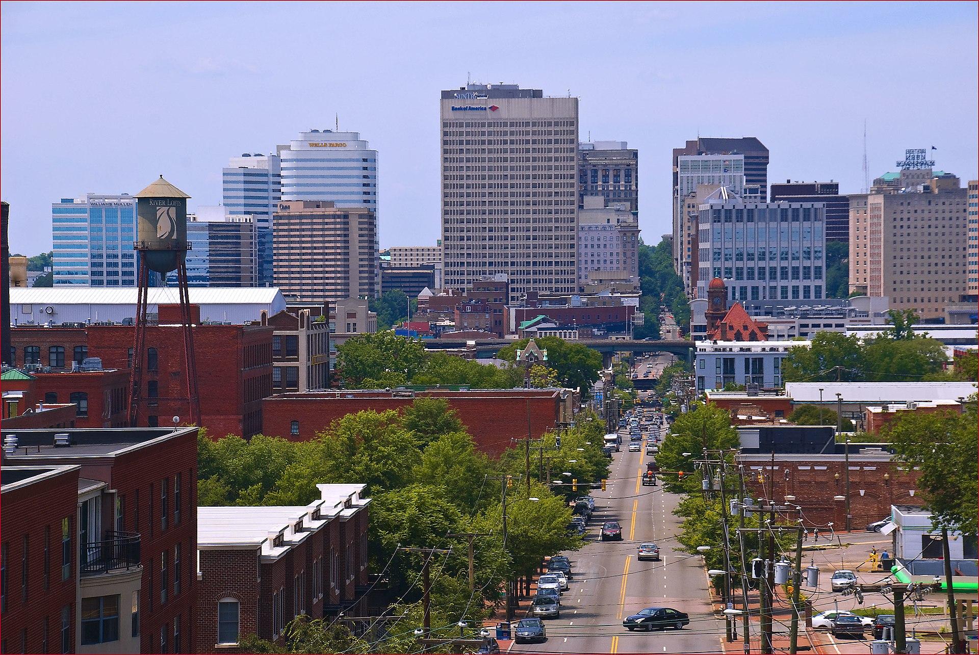 City Of Richmond Va >> Downtown Richmond, Virginia - Wikipedia