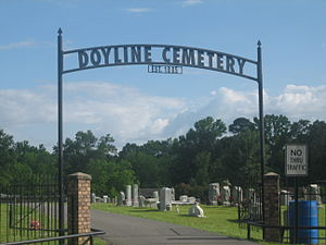 Doyline, Louisiana - Doyline Cemetery established in 1885 contains the graves of State Representatives C.W. Thompson and Lizzie P. Thompson.