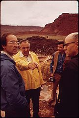 Dr. George Rice (In Yellow Jacket) Was EPA's On - Scene Coordinator for the Clean - Up of the San Juan River Oil Spill, 10-1972 (3814163053).jpg