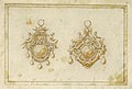 Drawing, Design for two pendants with crown and eagle, 16th century (CH 18554915).jpg