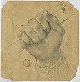 Drawing, Study- A man's hand holding a stick, 1700–1750 (CH 18118705).jpg