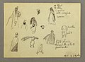 Drawing, Twelve Figure Sketches, Joffa, Palestine, 1868 (CH 18202695-2).jpg