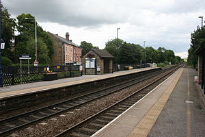 Dronfield railway station - Image: Dronfield railway station AB1