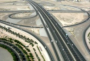 Transportation in Dubai - The interchange between E 311 and E 66