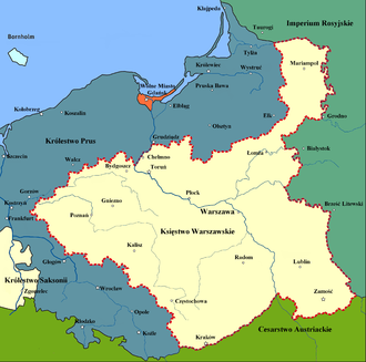 History of Poland (1795–1918) - Napoleon's Duchy of Warsaw (1807–1815)