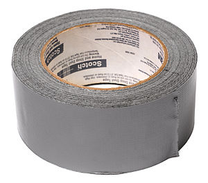 Duct tape - Powdered aluminium pigment gives traditional duct tape its silvery grey colour