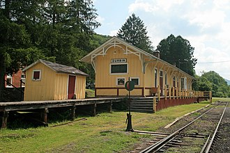 Pocahontas County, West Virginia - Image: Durbin & Greenbrier Valley RR Station (3805661916)