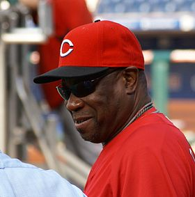 Dusty Baker talking before game.JPG