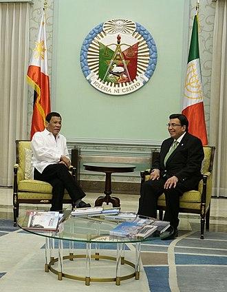 Iglesia ni Cristo - President Rodrigo Duterte meets with Executive Minister Eduardo Manalo.