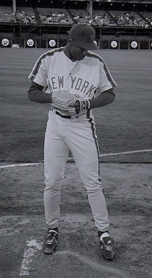 Dwight Gooden at Candlestick Park in San Franc...