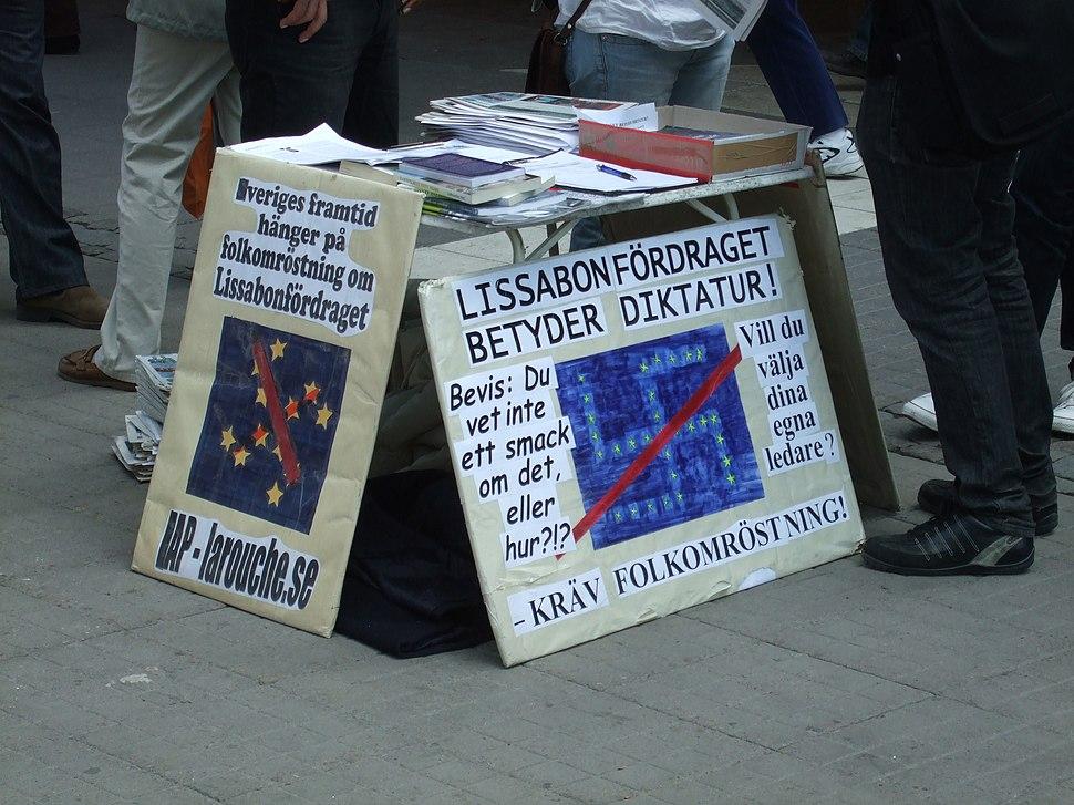 EAP demonstrerar mot EU - 2008-05-01 - 2