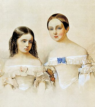 Grand Duchess Maria Mikhailovna of Russia - Maria with her younger sister, Ekaterina