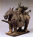 Earthenware Funerary Objects in the Shape of a Warrior on Horseback 도기 기마인물형 명기 05.jpg