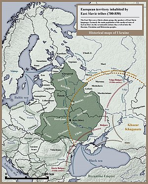 Dregoviches - European territory inhabited by East Slavic tribes in 8th and 9th centuries.