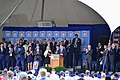 Edgar Martínez giving induction speech to Baseball Hall of Fame July 2019.jpg