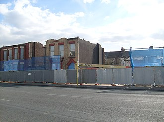 Edge Lane - Properties being demolished in March 2010