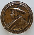 Effigy of Konrad Peutinger, by Friedrich Hagenauer, probably Augsburg, 1527, bronze - Bode-Museum - DSC03367.JPG