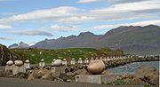 Eggin í Gleðivík (Eggs at Merry Bay) sculpture in Djúpivogur, Iceland