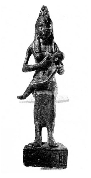 File:Egypt Statue of Isis with Horus.jpg