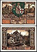 Eisenach 50 Pfg 1921 Wartburg.jpg