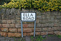Ella Road street sign, West Bridgford - geograph.org.uk - 1748562.jpg