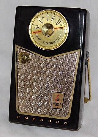 Transistor radio - A classic Emerson transistor radio, circa 1958