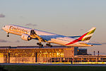 Emirates Boeing 777-300ER (A6-EBI) takes off at Domodedovo Airport.jpg