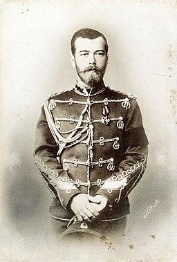 Emperor Nicholas II of Russia on the day of wedding